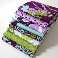 Joel Dewberry Fabric Bundle - AVIARY 2 for Free Spirit - Lilac Palette - FAT QUARTER Bundle of 8