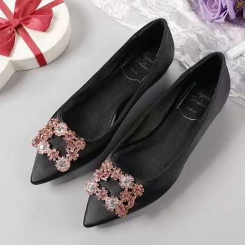 Roger Vivier Women Fashion Casual Pointed Toe High Heels Shoes-1