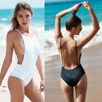 One-piecebackless swimsuit