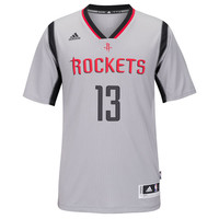 Men's Houston Rockets James Harden adidas Gray New Swingman Alternate Jersey