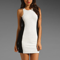 dolan T-Shirt Cut-Out Dress in Black/Bleach from REVOLVEclothing.com