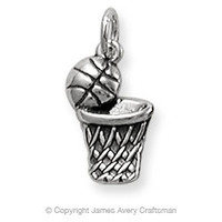 Basketball & Hoop Charm from James Avery