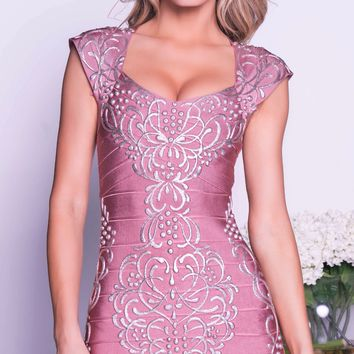 ETHAN PAINTED BANDAGE DRESS - 4 COLORS