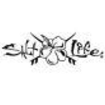 Salt Life Hibiscus & Boards Decal Black Medium