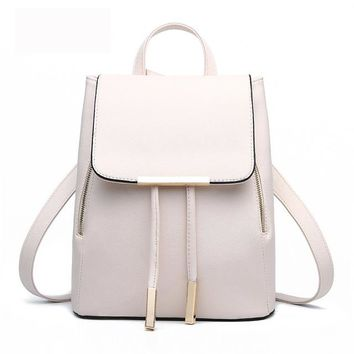 Student Backpack Children New Arrival 2017 High Quality Big PU Leather Students Backpack Travelling Shoulder Bags Casual Backbag Girls Fashion Backpack AT_49_3