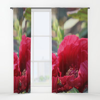 Kingdom Of Red Window Curtains by Theresa Campbell D'August Art