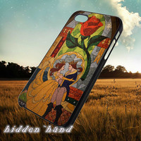 Disney Beauty and the Beast Stained Glass,Case,Cell Phone,iPhone 5/5S/5C,iPhone 4/4S,Samsung Galaxy S3,Samsung Galaxy S4,Rubber,13/07/10/Ar