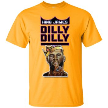 Lebron James : Dilly Dilly : King James : Cleveland Cavs : Cotton T-Shirt