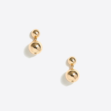 Golden sphere drop earrings