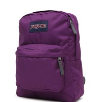 JanSport Super Break Purple School Backpack - Womens Backpack - Purple - One