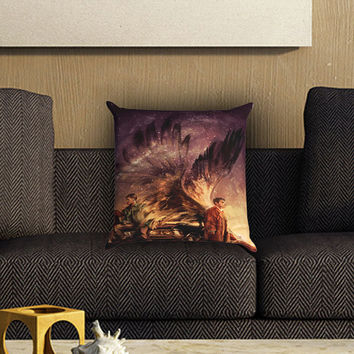 Supernatural Painting Art Pillow Cover , Custom Zippered Pillow Case One Side Two SIde