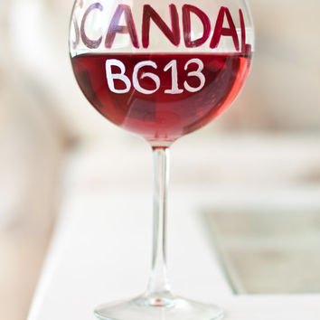 SCANDAL Wine Glass: It's Handled