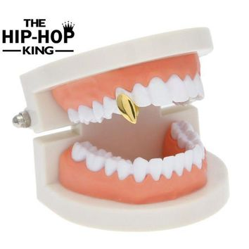 ac ICIKO2Q Hip Hop Gold Silver Color Fang Grill Star Custom Tooth Grills Canine Fangs Dracula Teeth Grill