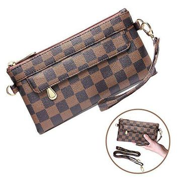 Crossbody Bags for Women Teen Girls Leather Fashion Handbags Purse and Classic Medium Shoulder Bag (Brown)