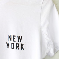 New York Relaxed Tee - White