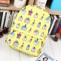Strong Character Korean Casual Canvas Cartoons Backpack = 4887948548