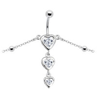 Crystalline Gem Sweetheart Belly Chain | Body Candy Body Jewelry