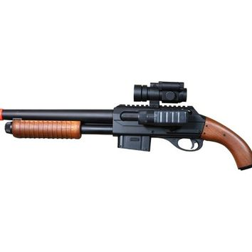 Double Eagle M47C Sawed-Off Style Shotgun with Scope and Flash Light, Black