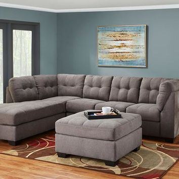 Marlo Charcoal 3 Pc. Sectional (Reverse)