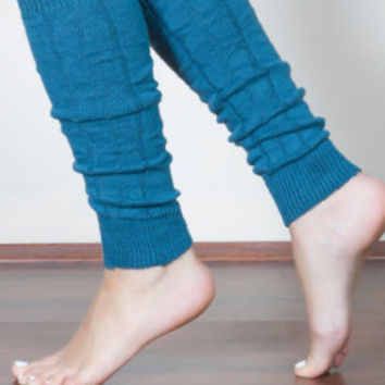 Leg warmers blue Leg warmes woman gift girlfriend gift