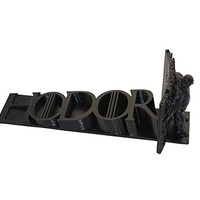 Hodor, Hold The Door Stop- 3D Printed Game of Thrones Doorstop - BLACK