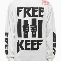 """Free Keef"" tee from F/W2014-15 Been Trill collection in white"