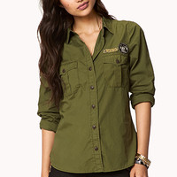 Military-Inspired Button Down