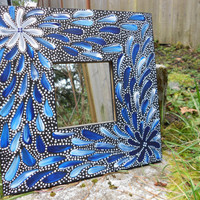 Australian Aboriginal Inspired Painted Mirror by Acires on Etsy