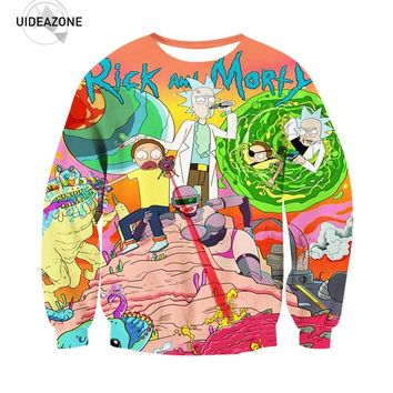 Rick And Morty Sweatshirt Men Women Streetwear Hipster Funny Cartoon Anime Hoodies Casual 3D Pullovers Sweatshirts Dropship