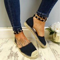 Studded Ankle Strap Espadrilles 2 Colors