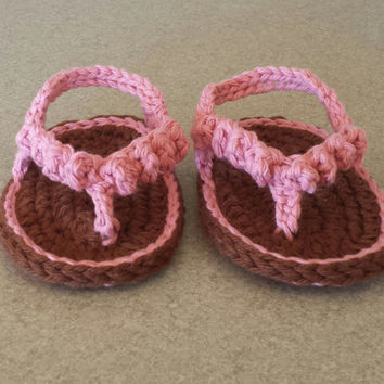 Crochet Cotton Baby Infant Ruffle Sandals