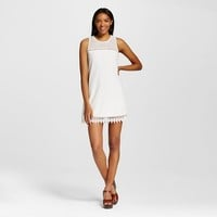 Women's Lace Trim Mesh Shift Dress - Lots of Love by Speechless (Juniors')