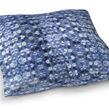 SHIBORI MIRROR Floor Pillow By Becky Bailey