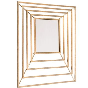 Gold Dimension Wall Mirror