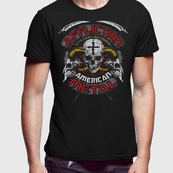 Affliction Lakota Half Sleeve Men Premium Tshirt