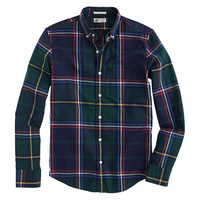 Slim Thomas Mason For J.Crew Flannel Shirt In Classic Pine