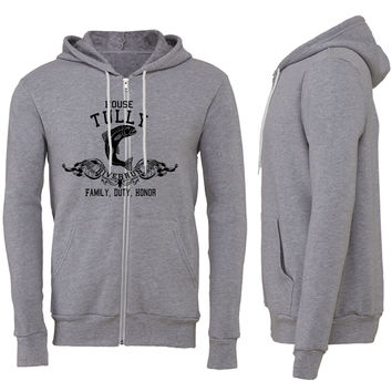 house tullys game of thorens Zipper Hoodie