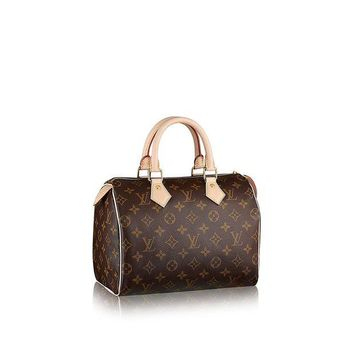 DCK4S2 Authentic Women's Vintage Louis Vuitton Speedy 30 Brown Monogram Travel Bag