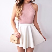 Sophia Knit Top - Blush