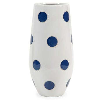 "16"" Essential Polka-Dot Vase, Blue, Vases"