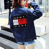 Tommy Hilfiger Women Denim Cardigan Jacket Coat