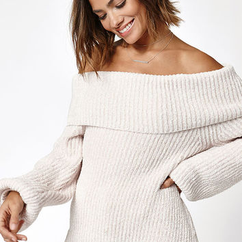 LA Hearts Chenille Off-The-Shoulder Sweater at PacSun.com