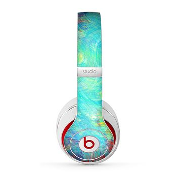 The Vibrant Colored Messy Painted Canvas Skin for the Beats by Dre Studio (2013+ Version) Headphones