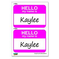 Kaylee Hello My Name Is - Sheet of 2 Stickers