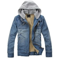 Partiss Mens Thick Hooded Jacket