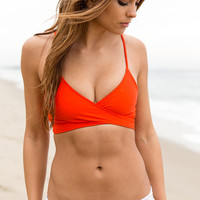 L*Space Swim - Chloe Wrap Top | Paprika
