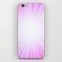 Pink Rays iPhone Skin by Knm Designs