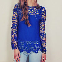 Cobalt Fairy Tale Top - Back in Stock