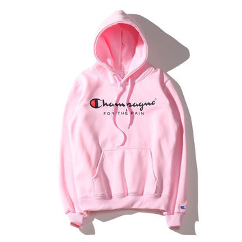 Champion Couple Casual Embroidery Pattern Hoodie Top Sweater Sweatshirt