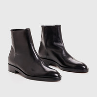 Slip-On Boot - Black Leather